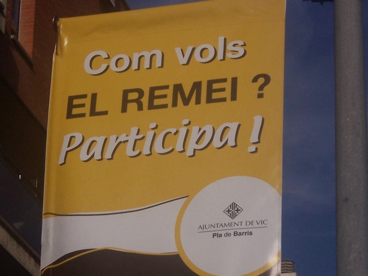 Procés De Participació Urbanística Del Barri Del Remei De Vic. Pla De Barris Vic Sud (Ajuntament De Vic)